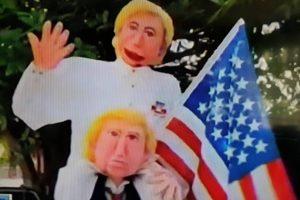 Trump y Clinton en Barrio Cabañas