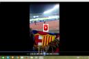 Hondureños gritan ¡Fuera JOH! en España durante partido del Barcelona