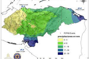 lluvias moderadas y fuertes