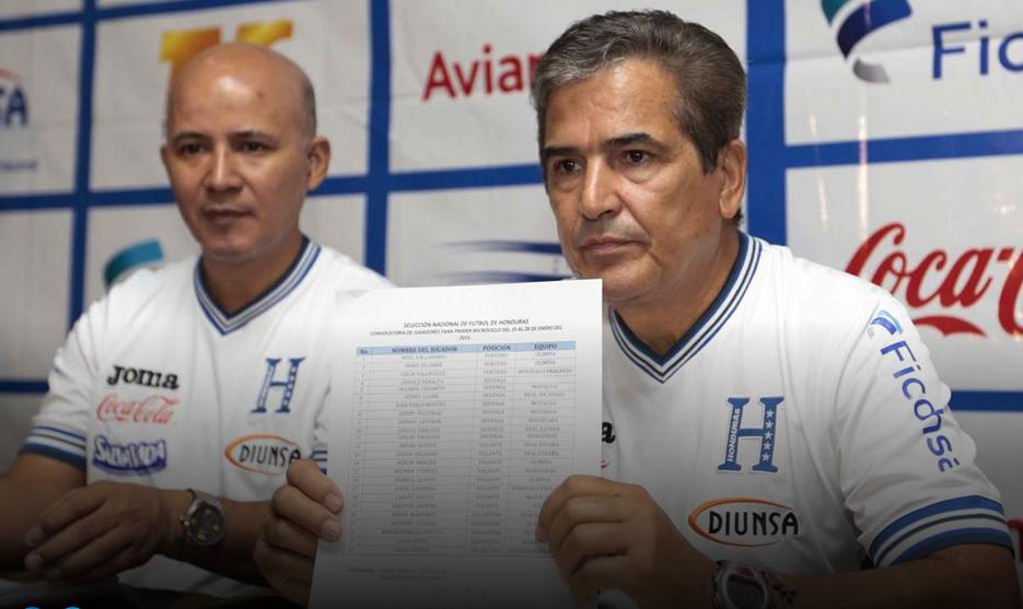 Jorge Luis Pinto anuncia