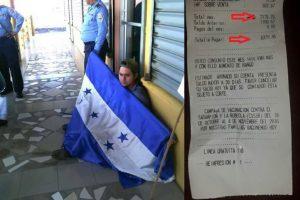 Ciudadano de Tela protesta por recibo de luz , walter chacon
