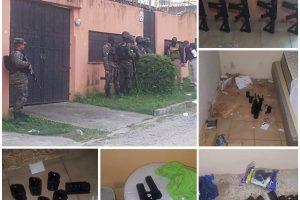Decomisan fuerte armamento en allanamiento realizado en San Pedro Sula